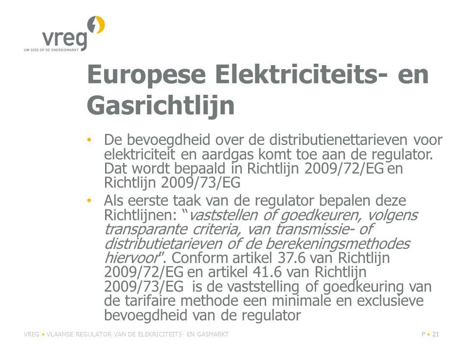 Europese Elektriciteits- en Gasrichtlijn