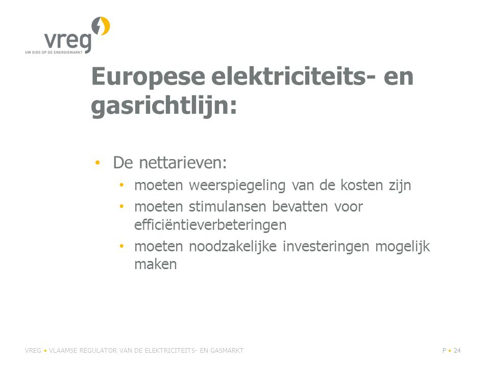 Europese elektriciteits- en gasrichtlijn: