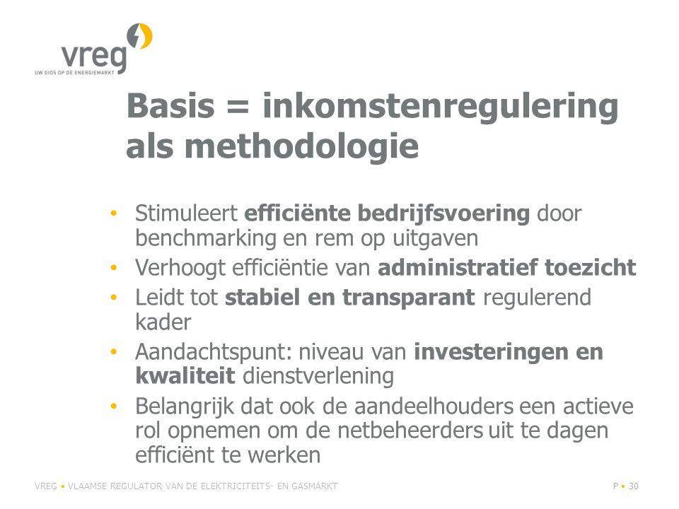 Basis = inkomstenregulering als methodologie