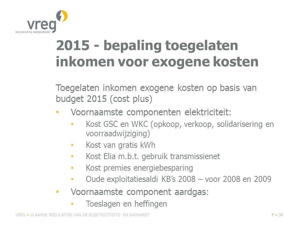 2015 - bepaling toegelaten inkomen voor exogene kosten