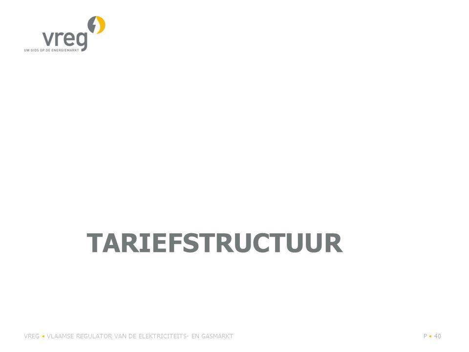 tariefstructuur VREG • VLAAMSE REGULATOR VAN DE ELEKTRICITEITS- EN GASMARKT
