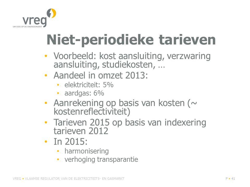 Niet-periodieke tarieven