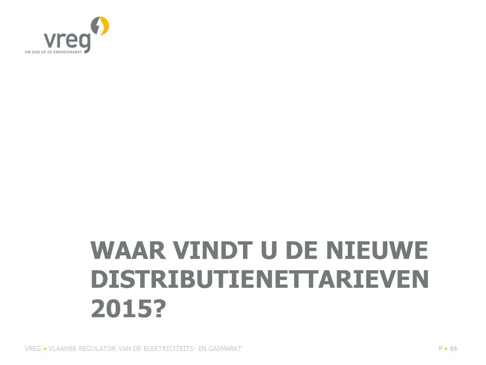 Waar vindt u de nieuwe distributienettarieven 2015
