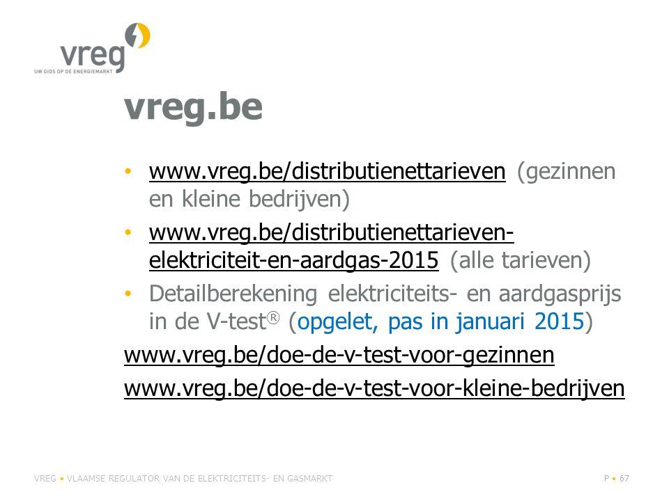 vreg.be www.vreg.be/distributienettarieven (gezinnen en kleine bedrijven)