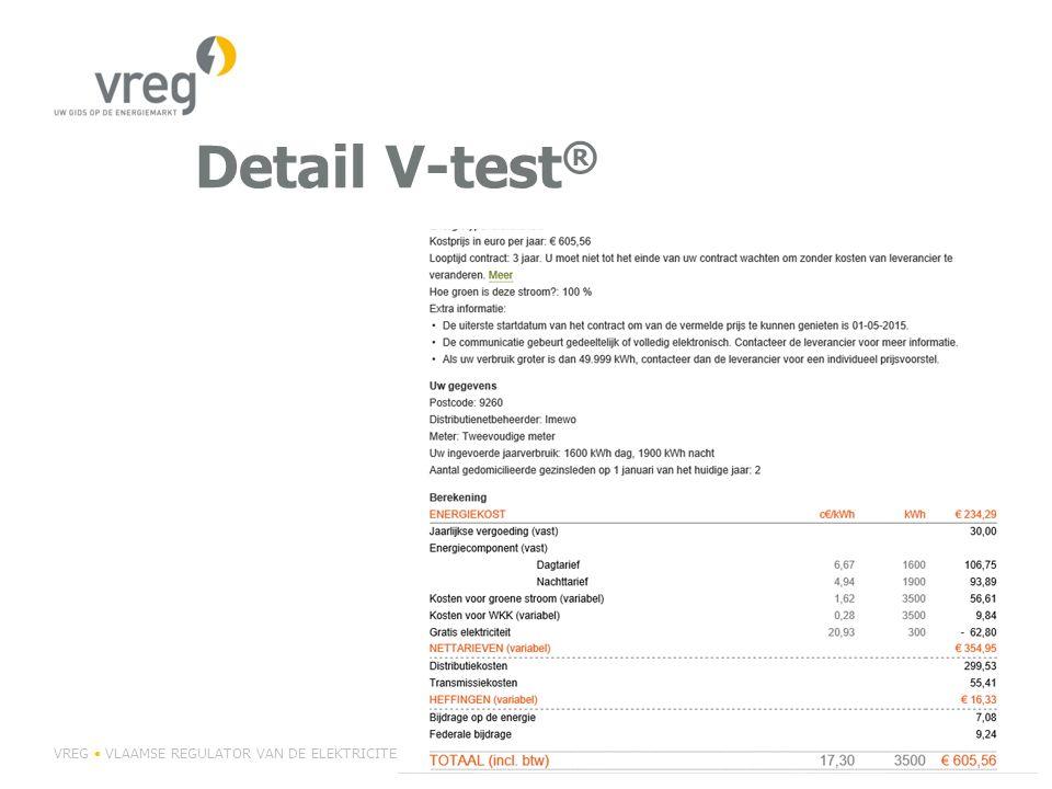 Detail V-test® VREG • VLAAMSE REGULATOR VAN DE ELEKTRICITEITS- EN GASMARKT