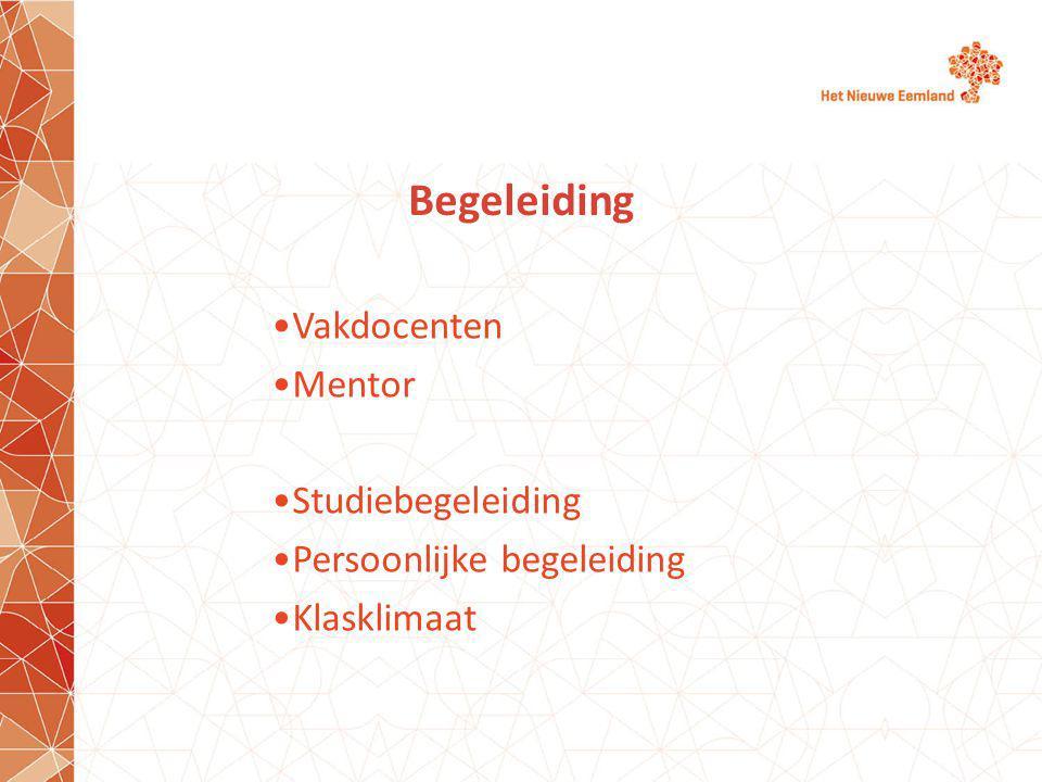 Begeleiding Vakdocenten Mentor Studiebegeleiding