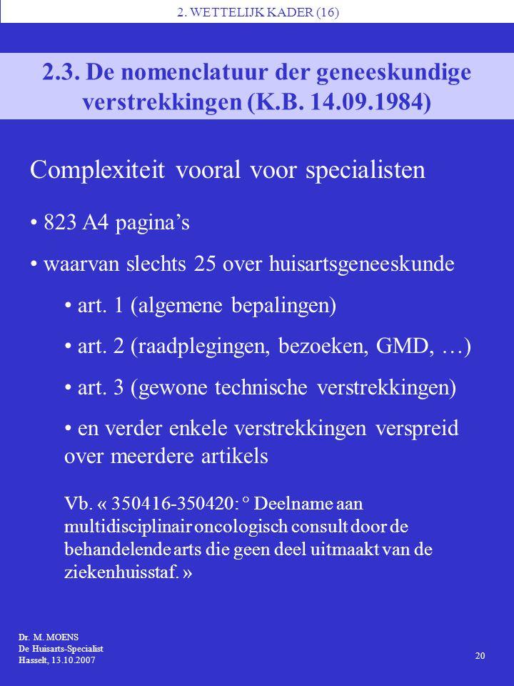 Complexiteit vooral voor specialisten