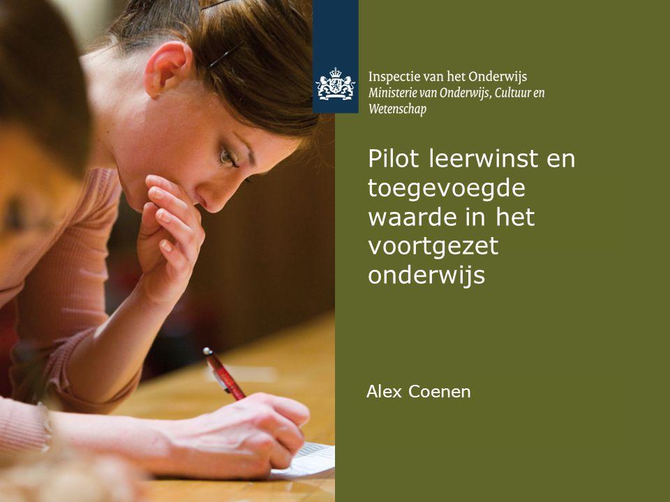 Pilot leerwinst en toegevoegde waarde in het voortgezet onderwijs