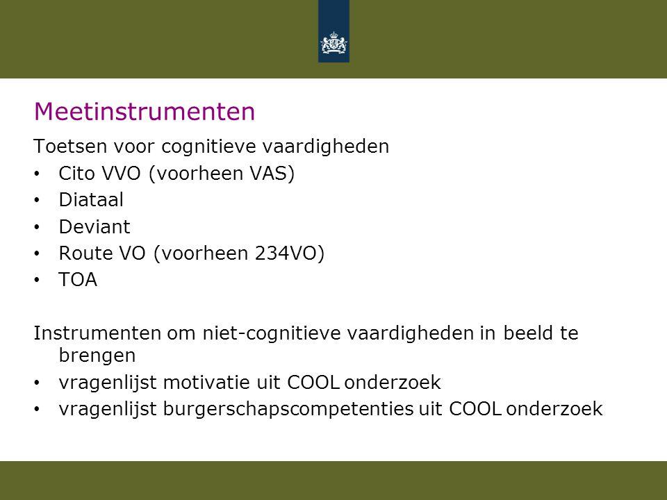 Meetinstrumenten Toetsen voor cognitieve vaardigheden