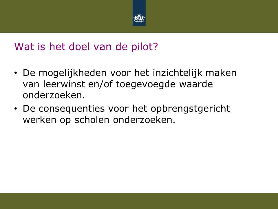 Wat is het doel van de pilot