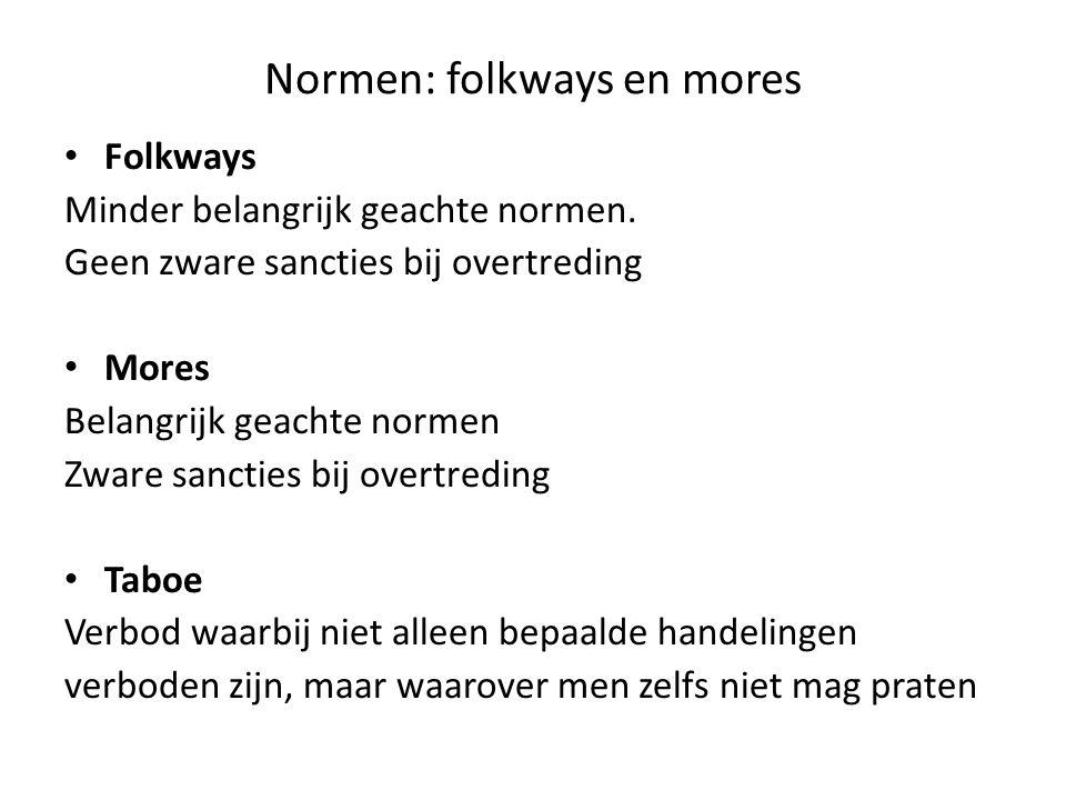 Normen: folkways en mores