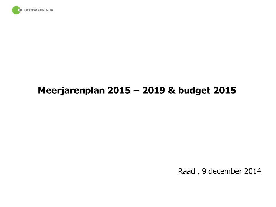 Meerjarenplan 2015 – 2019 & budget 2015
