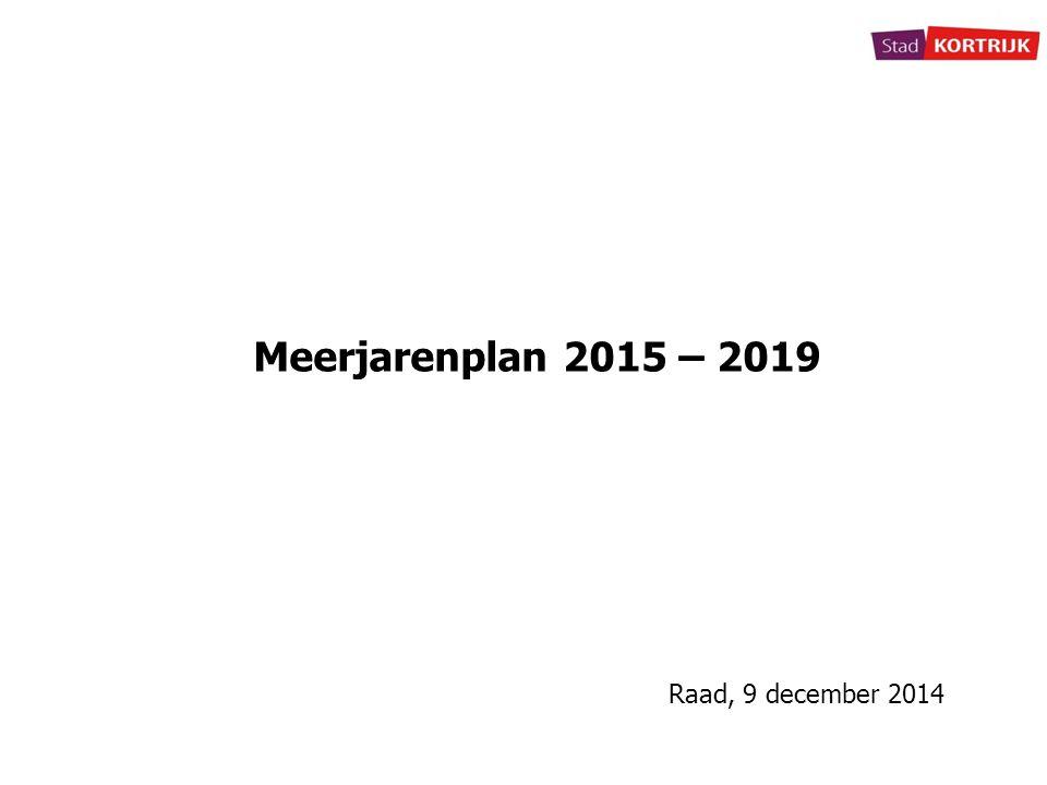 Meerjarenplan 2015 – 2019 Raad, 9 december 2014