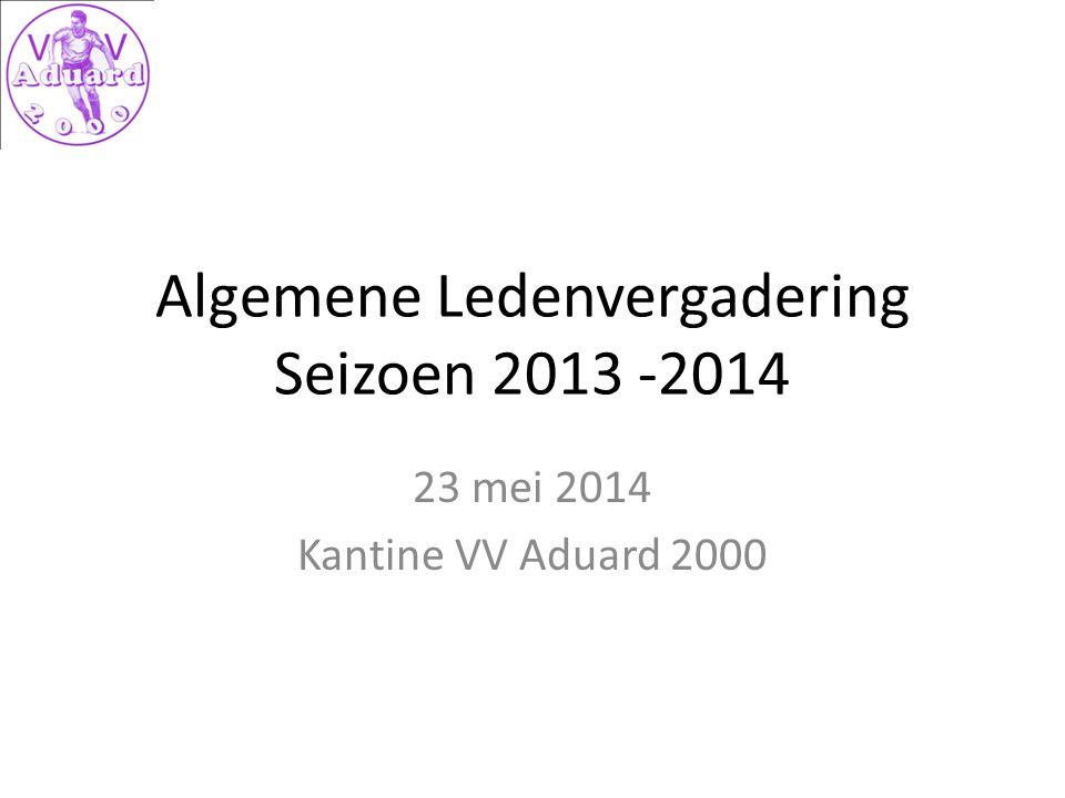 Algemene Ledenvergadering Seizoen 2013 -2014