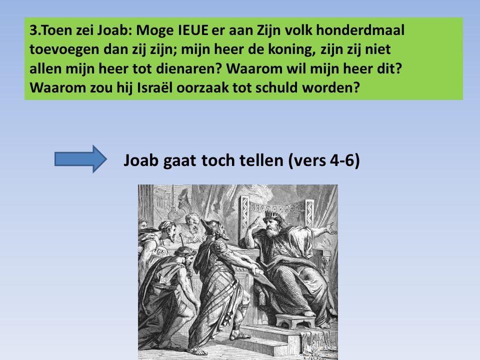 Joab gaat toch tellen (vers 4-6)