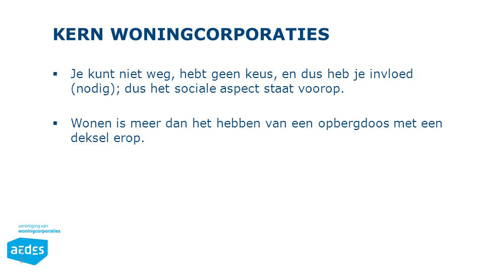 KERN WONINGCORPORATIES