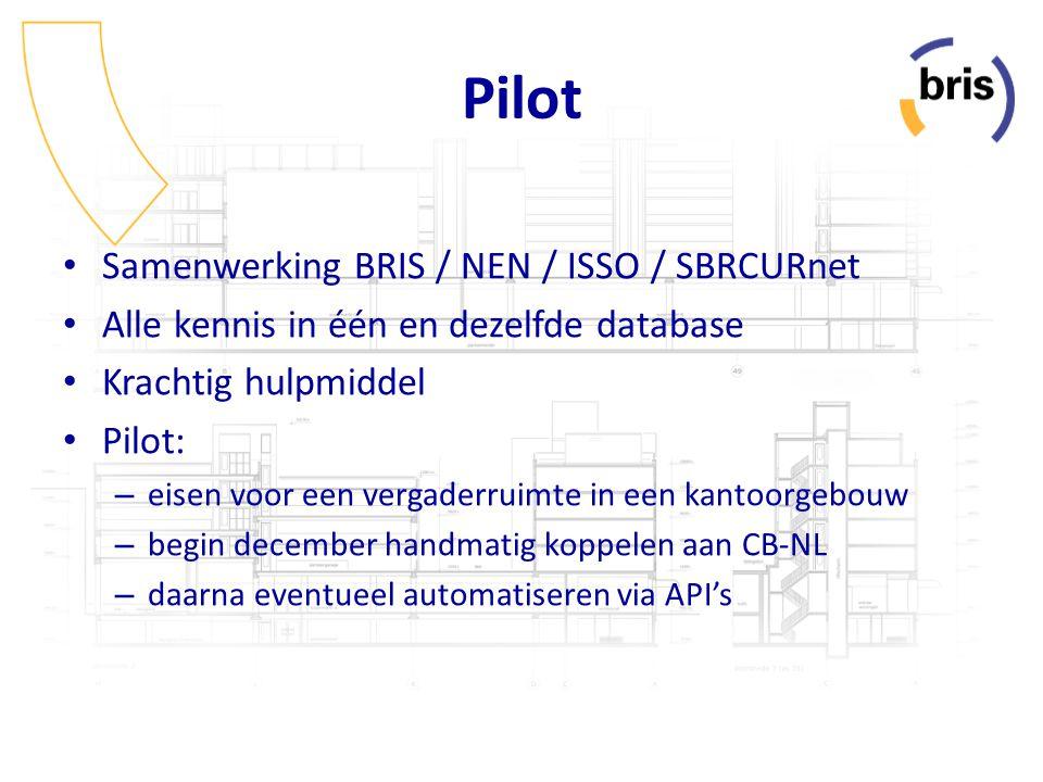 Pilot Samenwerking BRIS / NEN / ISSO / SBRCURnet