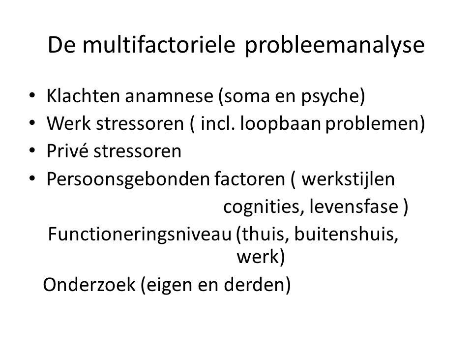De multifactoriele probleemanalyse