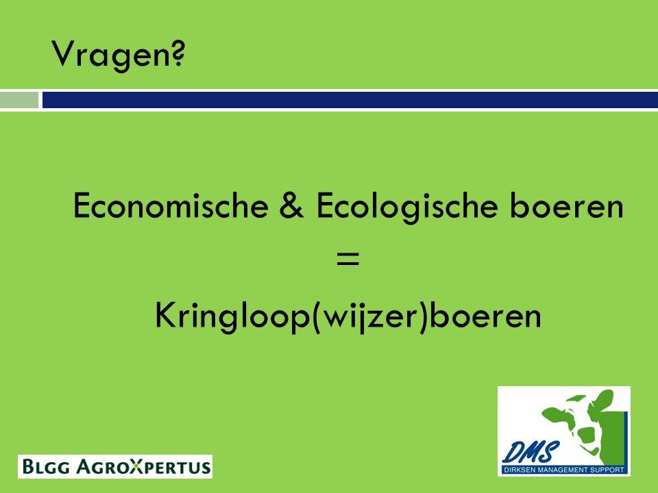 Economische & Ecologische boeren = Kringloop(wijzer)boeren