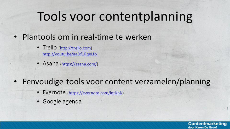 Tools voor contentplanning