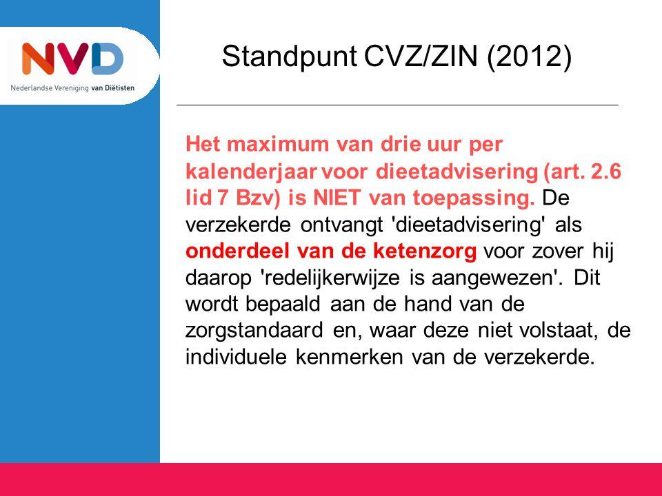 Standpunt CVZ/ZIN (2012)