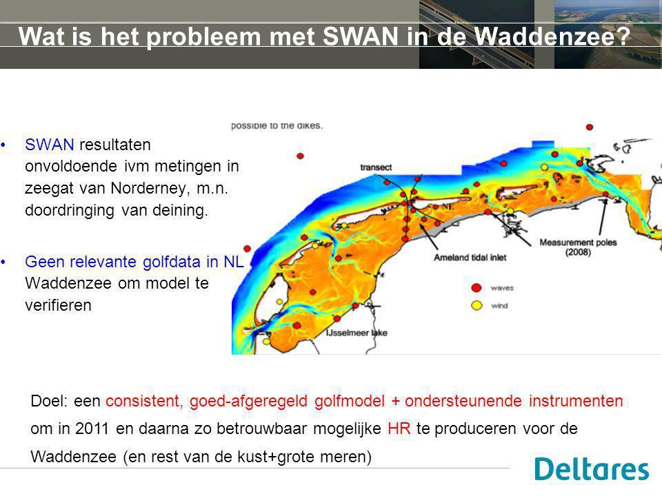 Wat is het probleem met SWAN in de Waddenzee