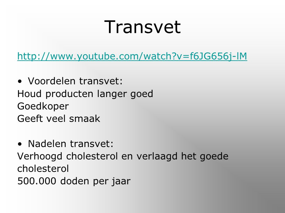 Transvet http://www.youtube.com/watch v=f6JG656j-lM