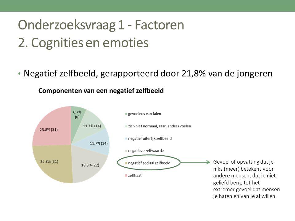 Onderzoeksvraag 1 - Factoren 2. Cognities en emoties