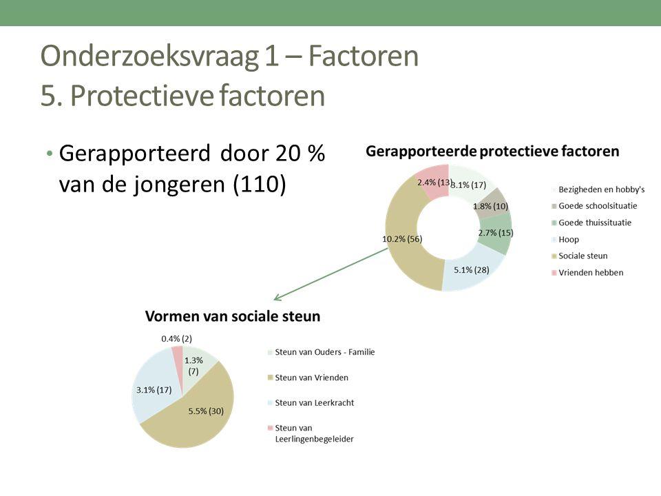 Onderzoeksvraag 1 – Factoren 5. Protectieve factoren