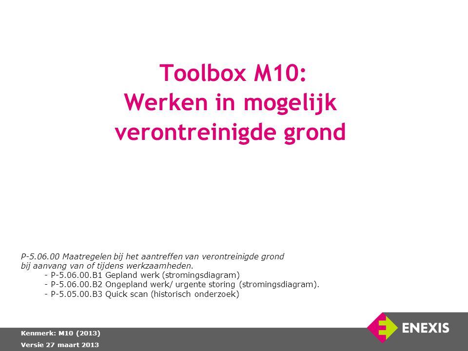 Toolbox M10: Werken in mogelijk verontreinigde grond