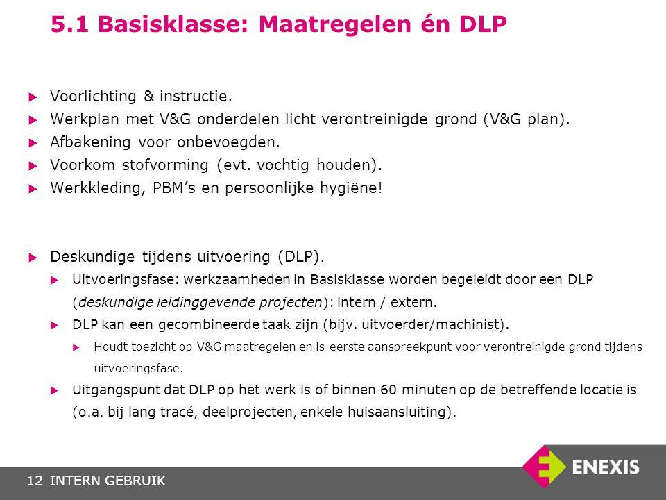 5.1 Basisklasse: Maatregelen én DLP