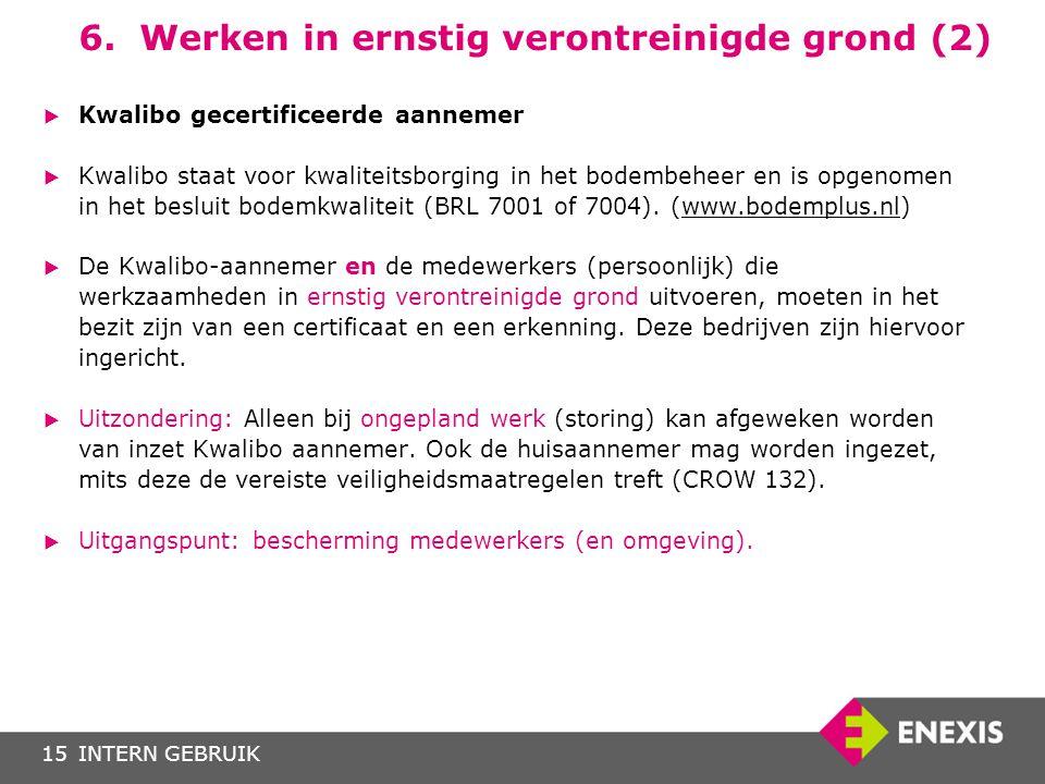 6. Werken in ernstig verontreinigde grond (2)