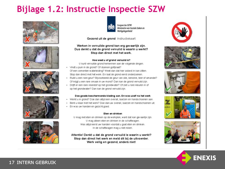 Bijlage 1.2: Instructie Inspectie SZW