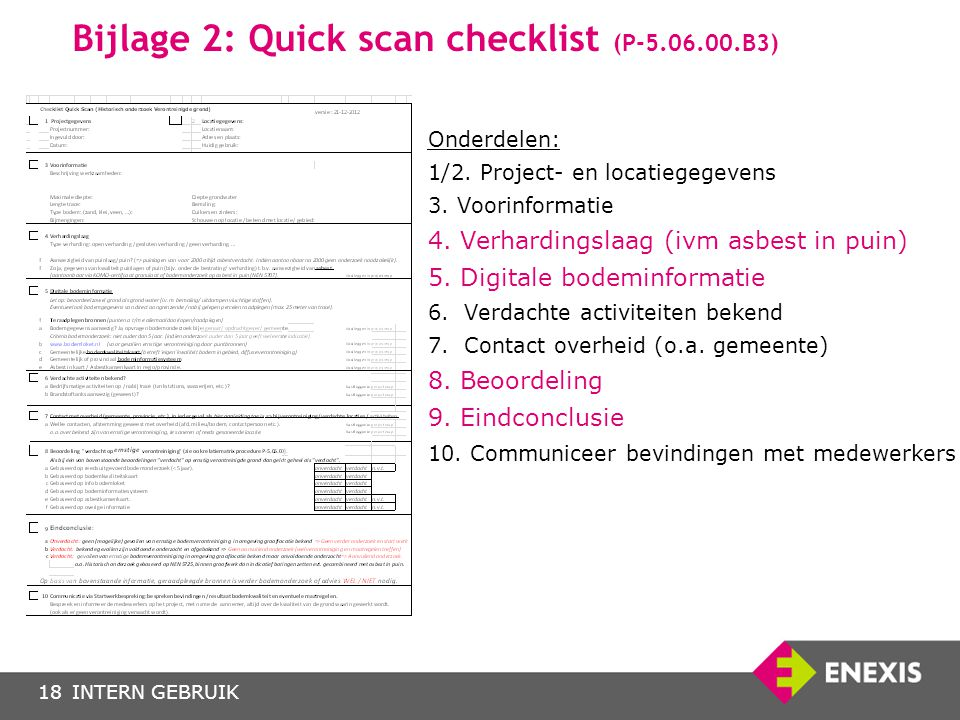 Bijlage 2: Quick scan checklist (P-5.06.00.B3)