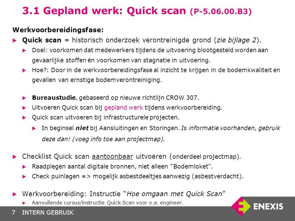 3.1 Gepland werk: Quick scan (P-5.06.00.B3)