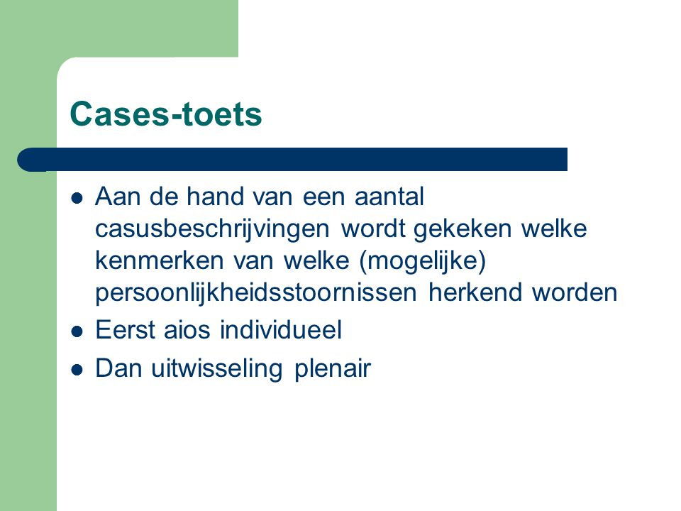 Cases-toets