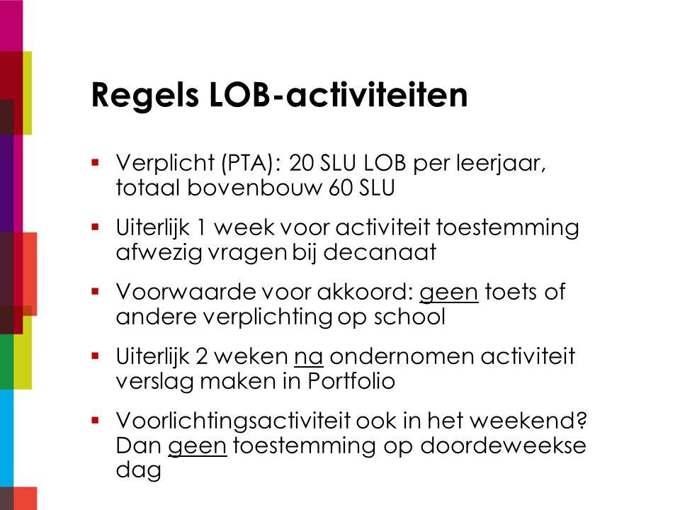 Regels LOB-activiteiten