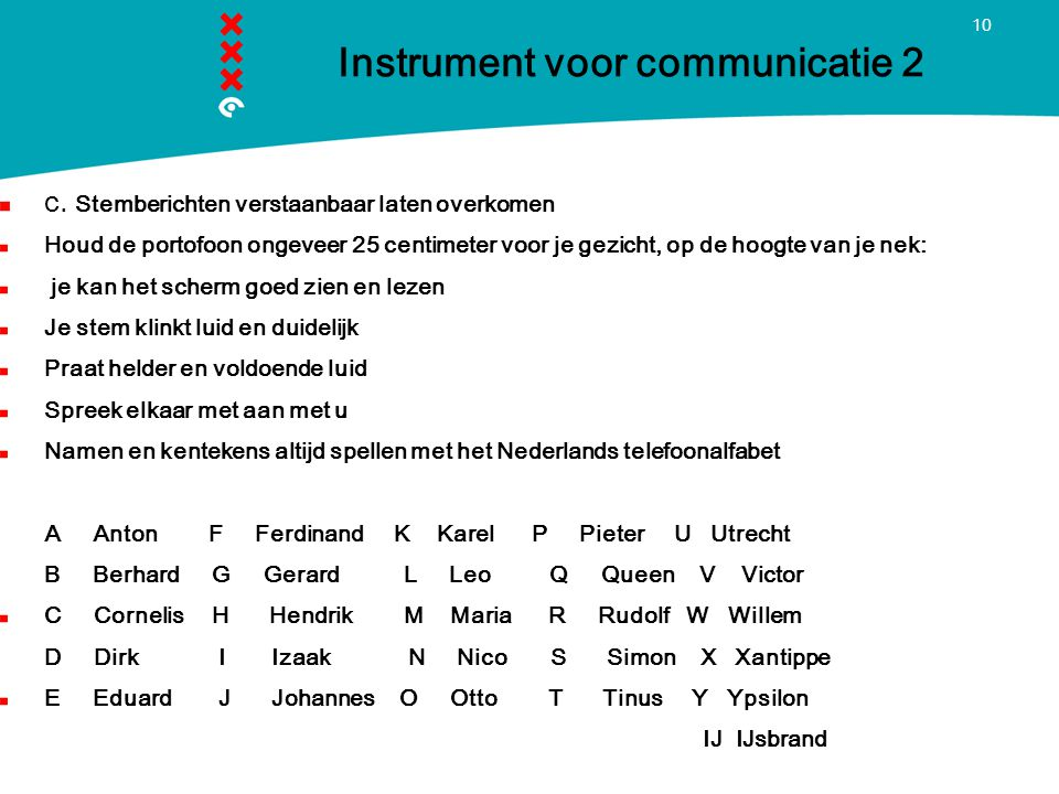 Instrument voor communicatie 2