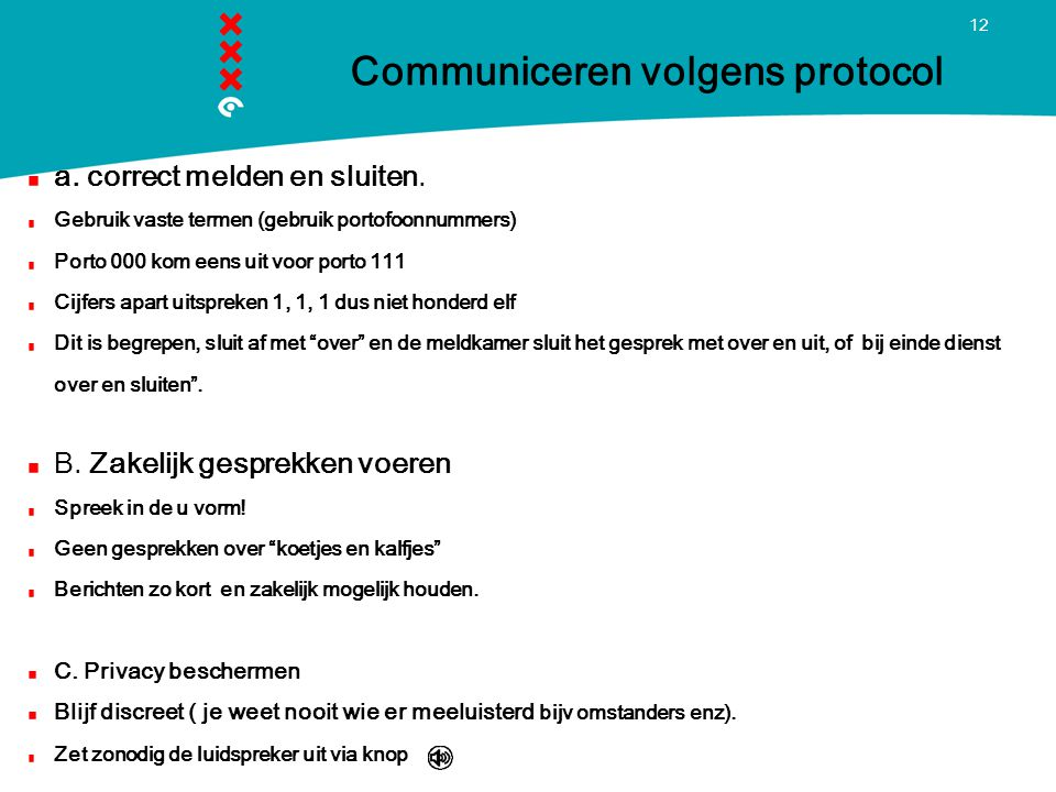 Communiceren volgens protocol