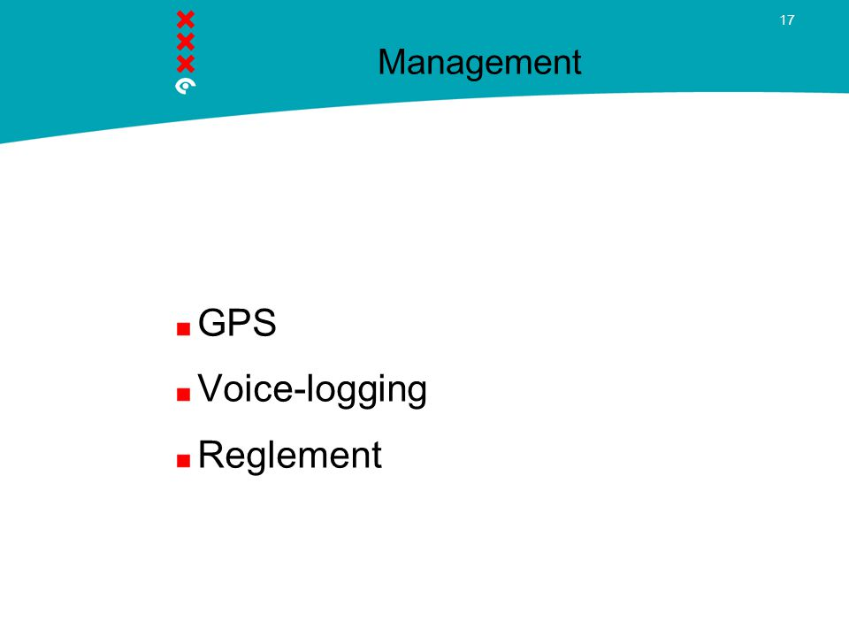 Management GPS Voice-logging Reglement