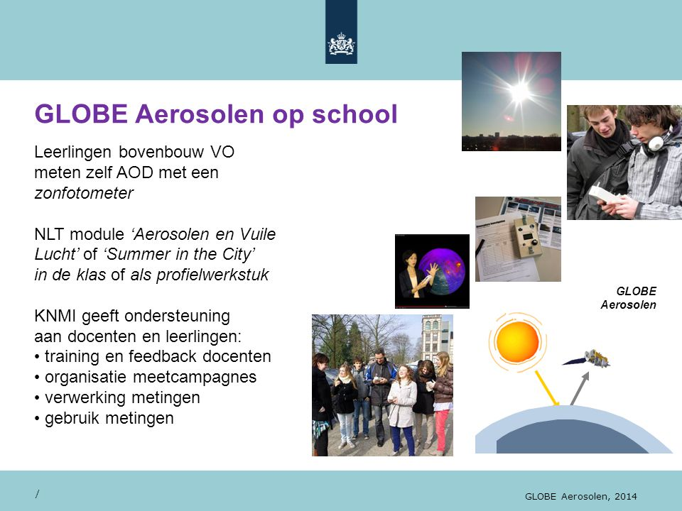 GLOBE Aerosolen op school
