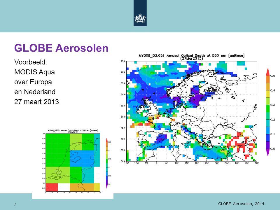 GLOBE Aerosolen Voorbeeld: MODIS Aqua over Europa en Nederland