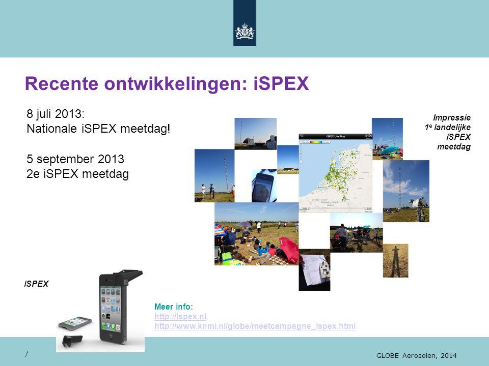 Recente ontwikkelingen: iSPEX