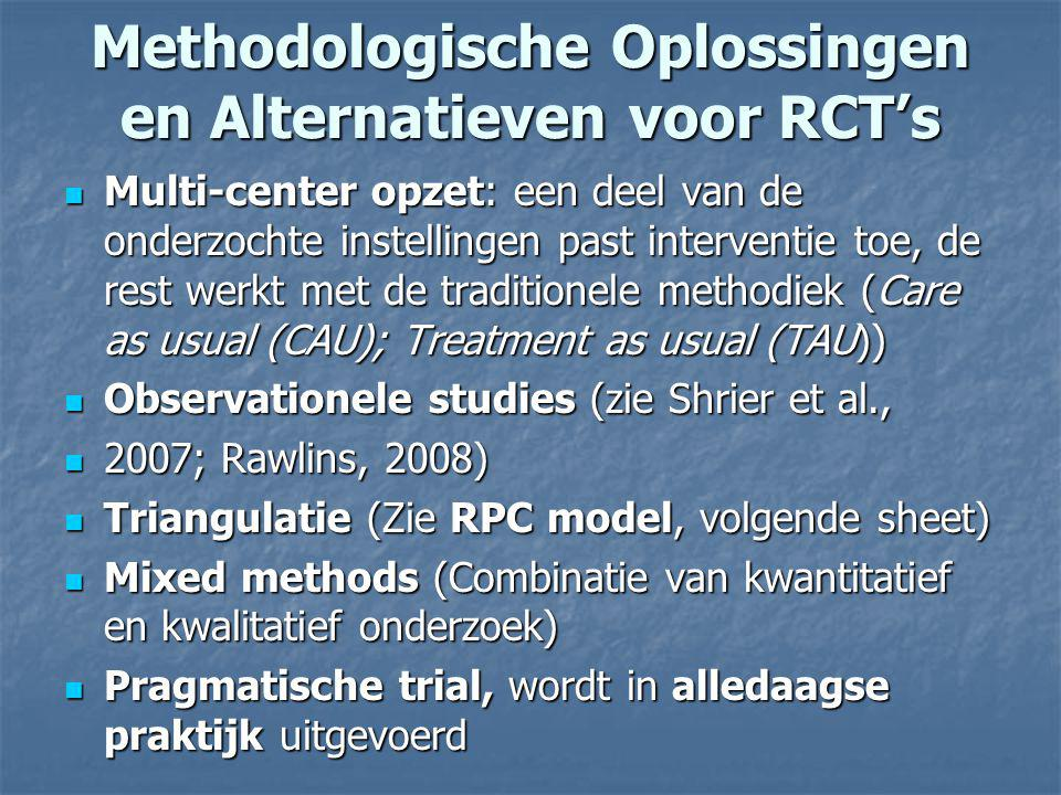 Methodologische Oplossingen en Alternatieven voor RCT's