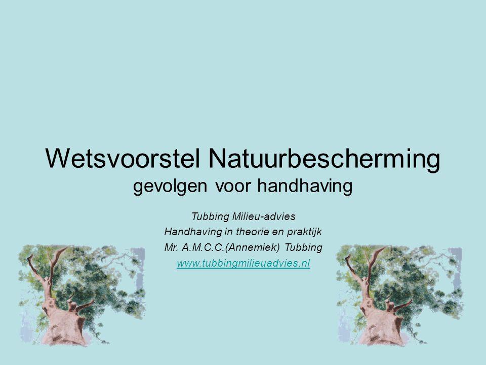Wetsvoorstel Natuurbescherming gevolgen voor handhaving