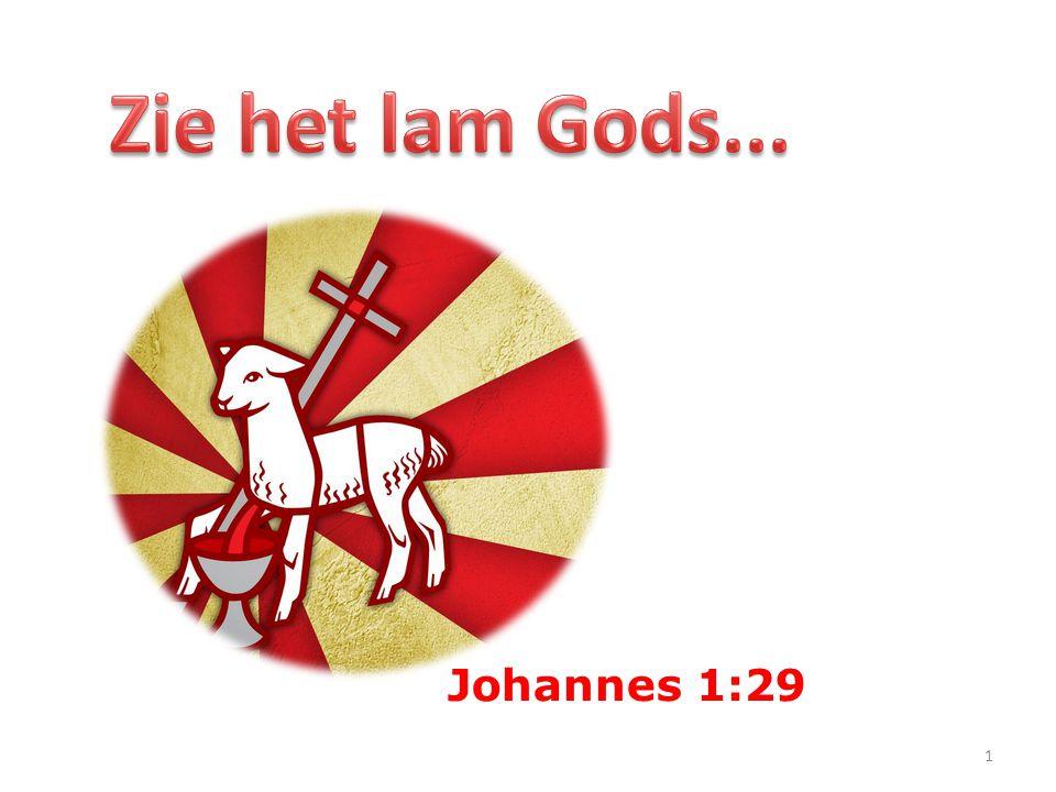 Zie het lam Gods... Johannes 1:29