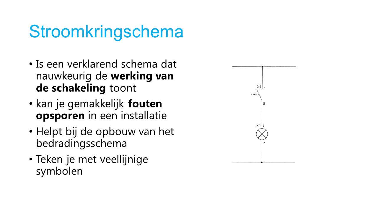 Stroomkringschema Is een verklarend schema dat nauwkeurig de werking van de schakeling toont.