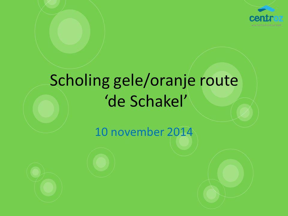 Scholing gele/oranje route 'de Schakel'