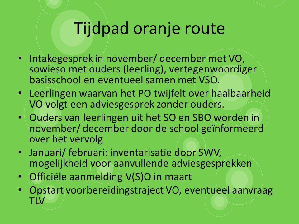Tijdpad oranje route