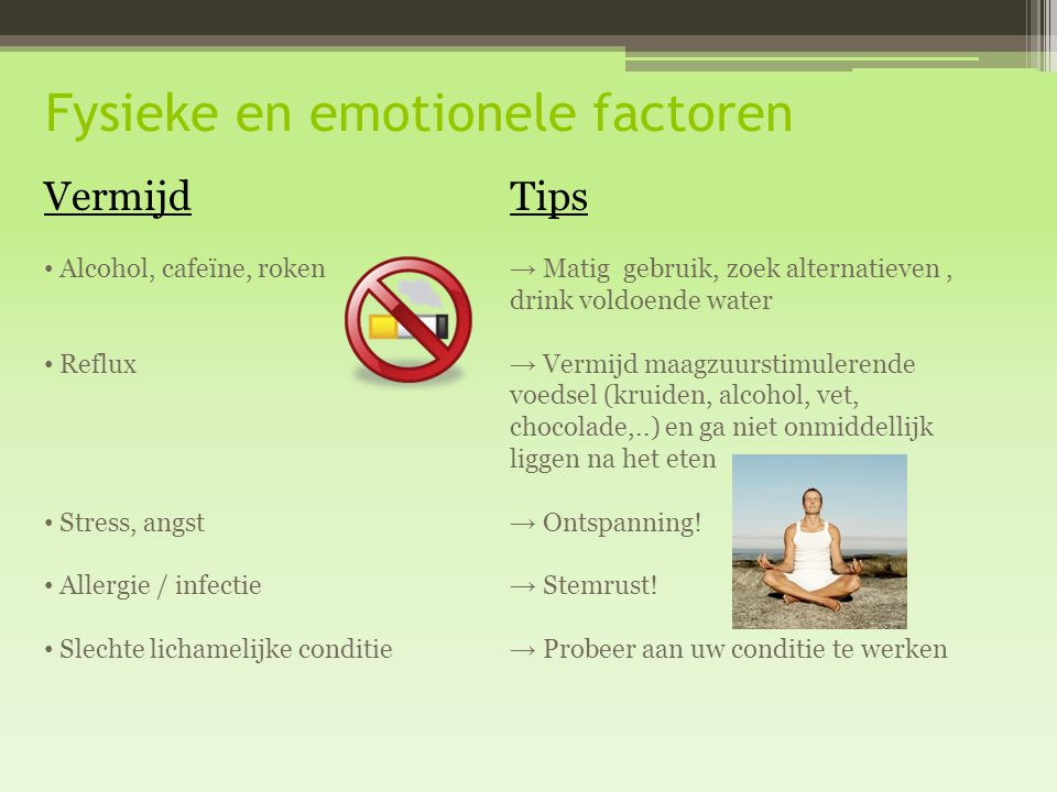 Fysieke en emotionele factoren